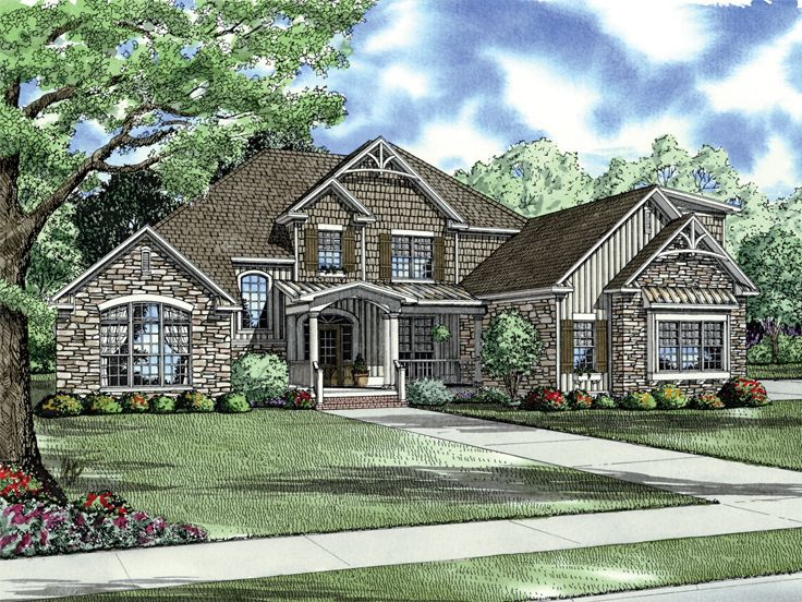 Craftsman House Plan, 025H-0222