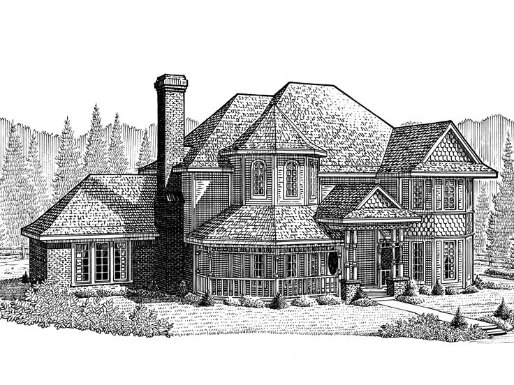 Plan 054h 0120 find unique house plans home plans and floor plans at - Large victorian house plans ...