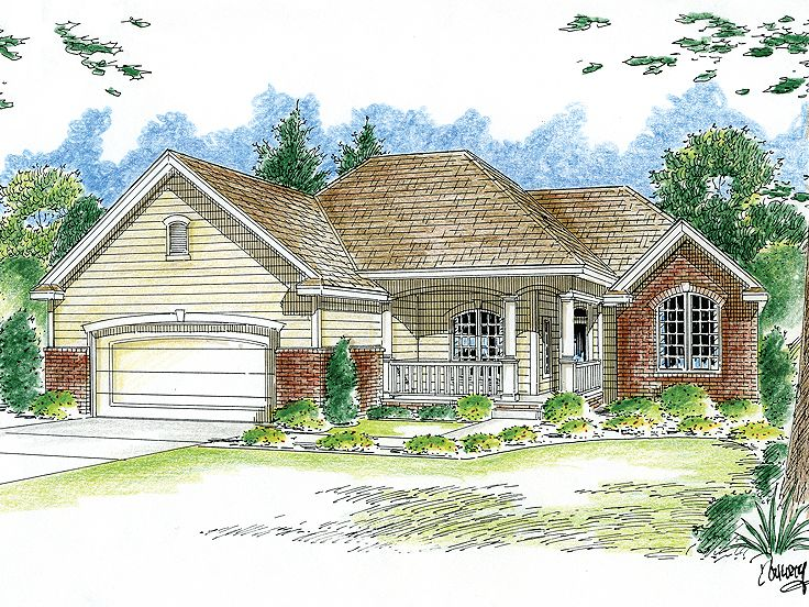 Ranch House Design, 050H-0066
