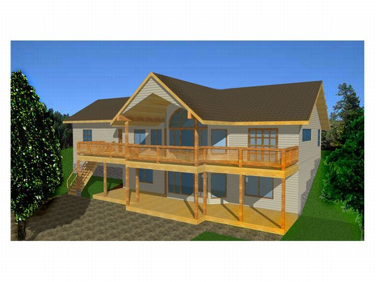 Plan 012h 0025 find unique house plans home plans and for Sloped lot home designs