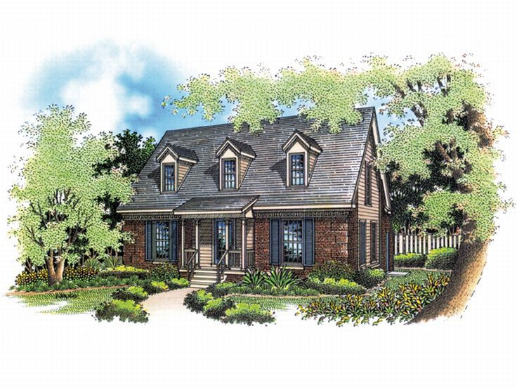 Cottage House Plan, 021H-0011