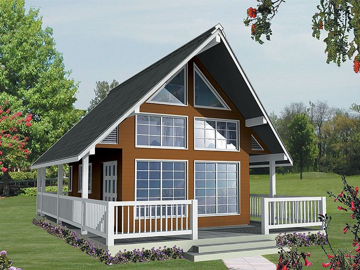 Vacation house plans vacation cottage home plan design for Vacation cabin floor plans