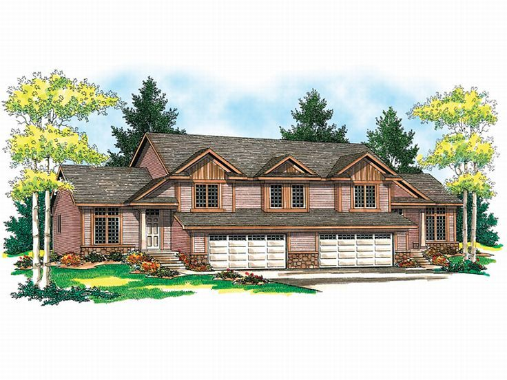 Duplex Home Plan, 020M-0012