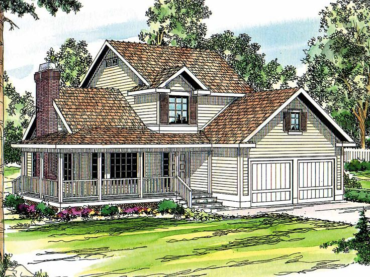 2-Story Country House, 051H-0015