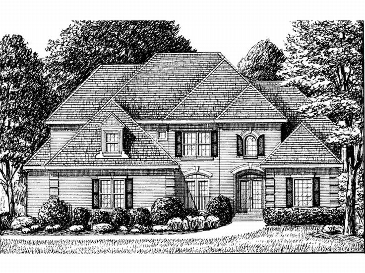 Two-Story House Design, 011H-0041