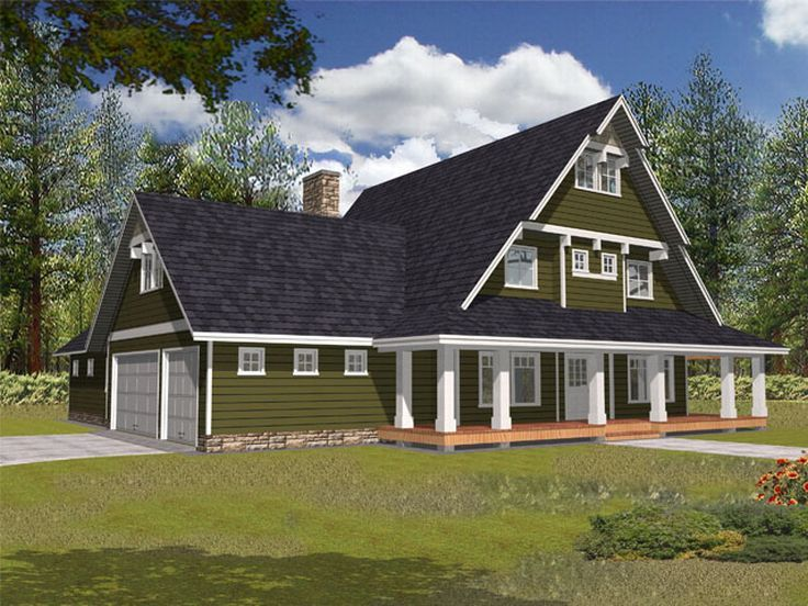 Plan 012h 0053 find unique house plans home plans and for A frame house plans with attached garage