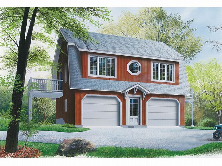 Garage apartment plans 2 car carriage house plan with for Two bedroom garage apartment plans