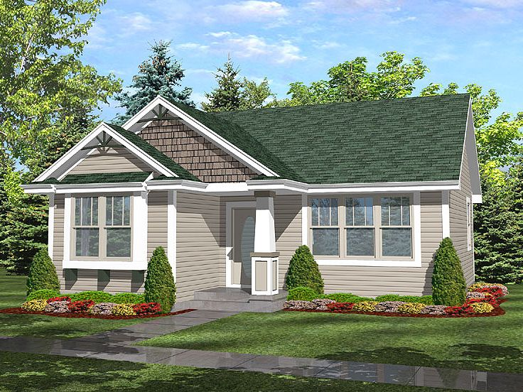 Cottage House Plan, 016H-0008