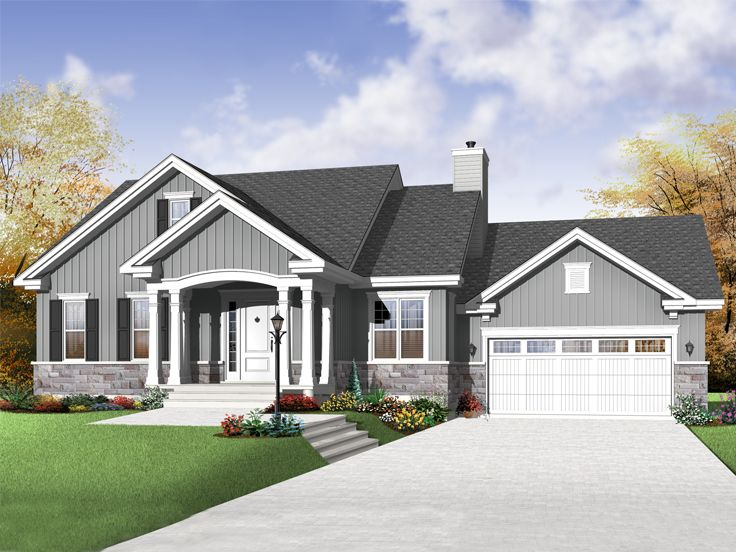 Empty-Nester House Plan, 027H-0247