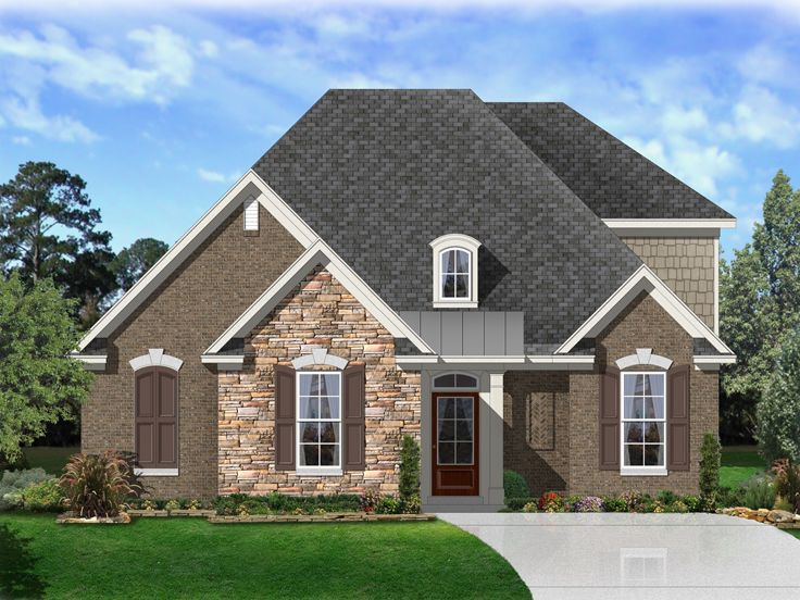 European House Plan, 058H-0156