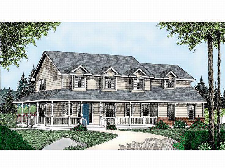 Country Home Design, 026H-0094