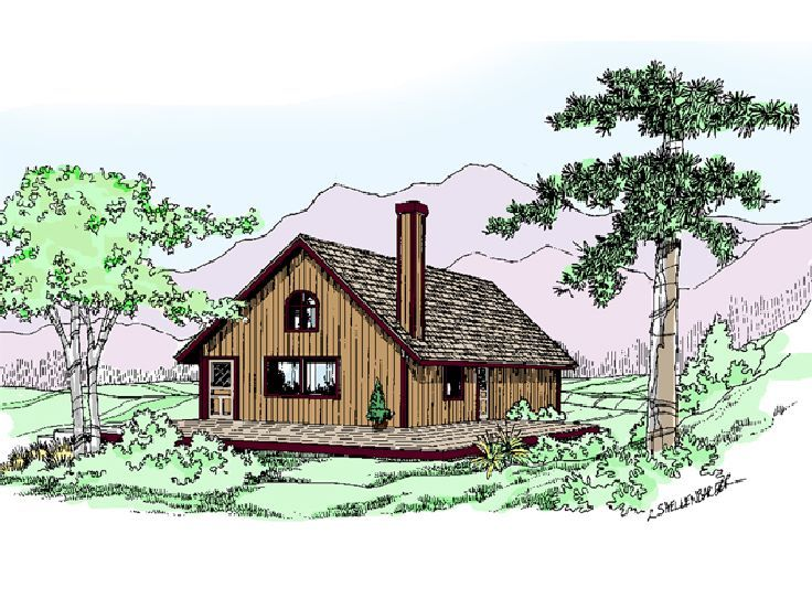Cabin House Plan, 013H-0082