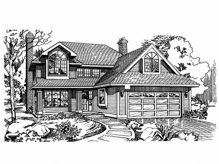 2-Story House Plan, 032H-0018