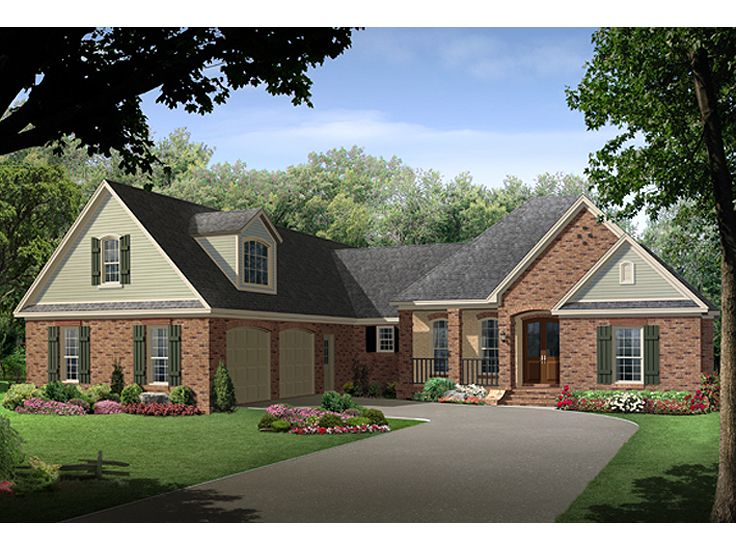 Ranch Home Plan, 001H-0195