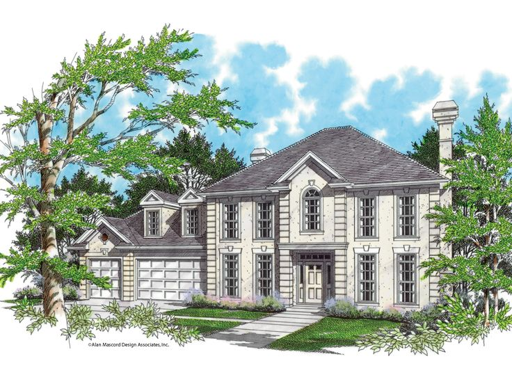 Two-Story Home Design, 034H-0114