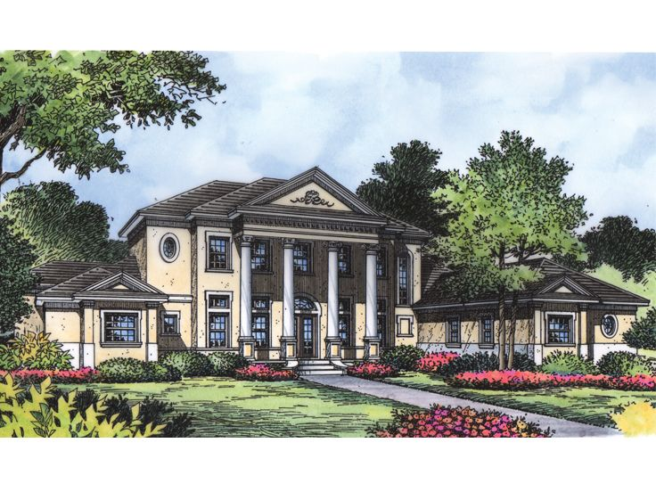 Southern Luxury Home, 043H-0221