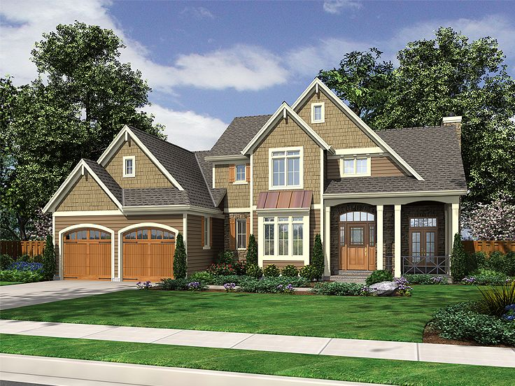 Plan 046h 0011 find unique house plans home plans and for Two story craftsman