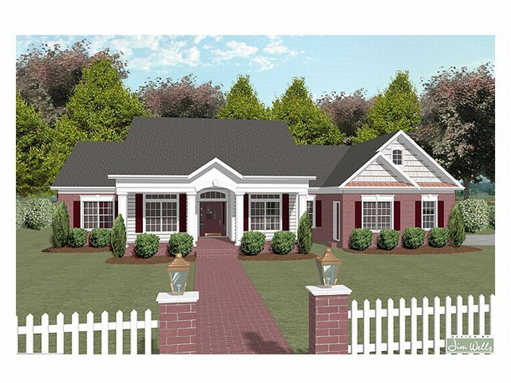 One-Story House Plan, 007H-0065