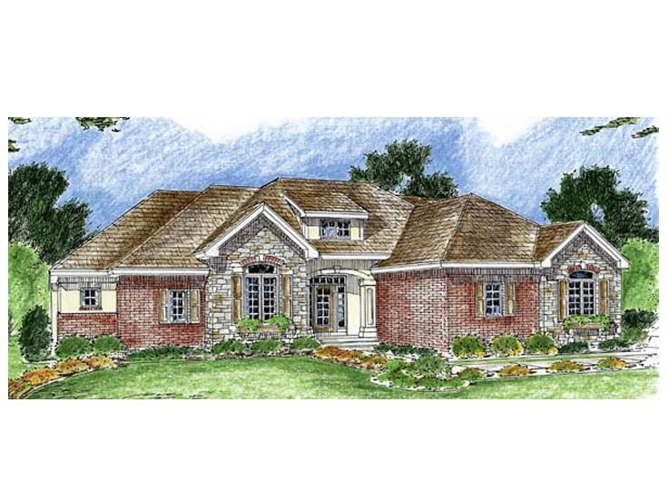 Ranch House Plan, 050H-0057