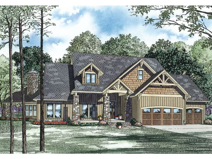 Craftsman House Plan, 025H-0224