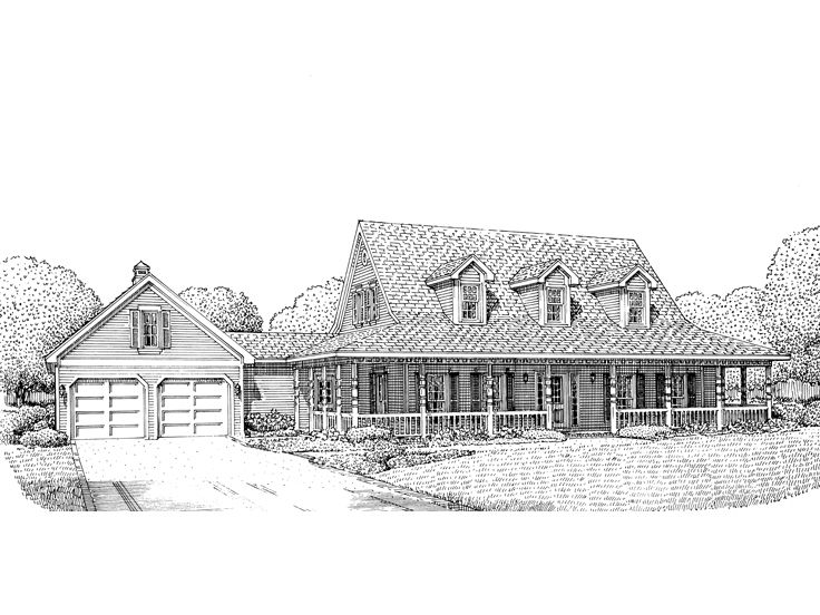 Country House Plan, 054H-0061