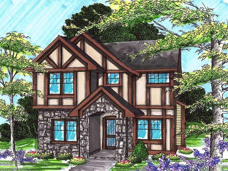 Tudor House Plan, 020H-0238
