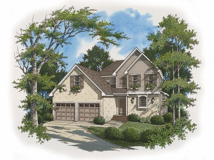 European House Plan, 030H-0039