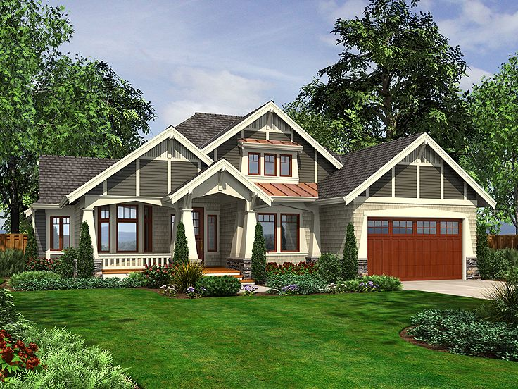 Craftsman House Plan, 035H-0104