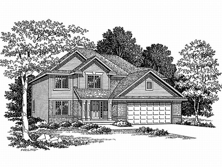 2-Story House Plan, 020H-0020