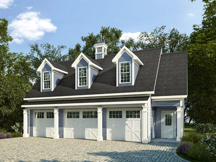 Garage apartment plans 3 car garage apartment plan with for Large carriage house plans