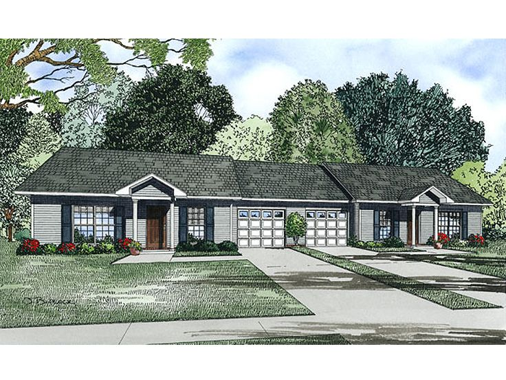 Duplex house plans ranch duplex plan 025m 0084 at Ranch style duplex plans