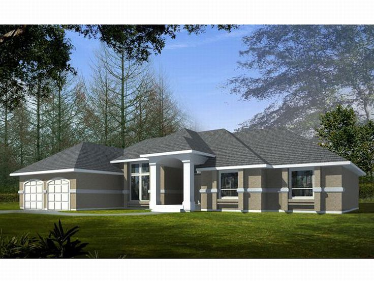 Ranch House Plan, 026H-0015