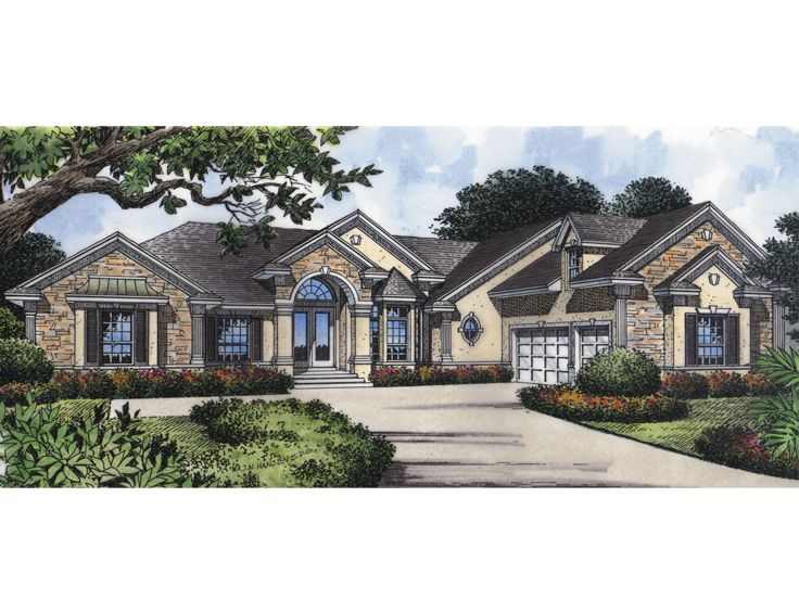 Ranch House Plan, 043H-0134