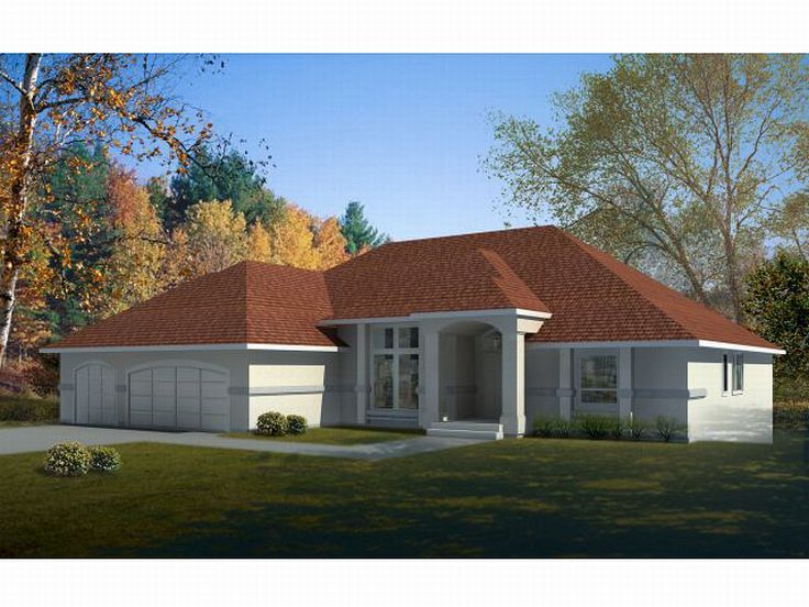 Sunbelt Home Plan, 026H-0056