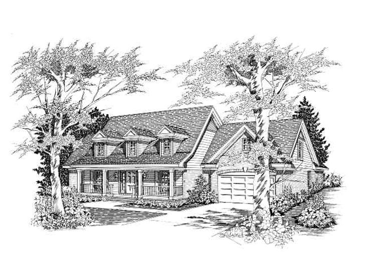 Southern Country Home, 061H-0088
