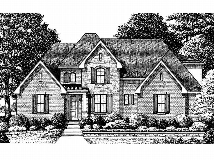 2-Story Home Plan, 011H-0038
