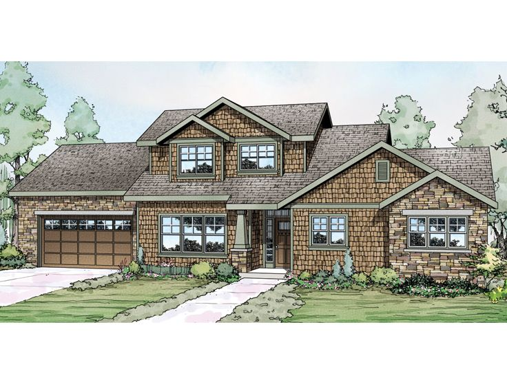 Craftsman Home Plan, 051H-0207