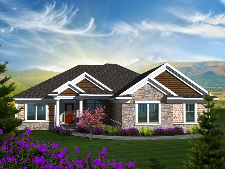 Empty Nester Home Plans Traditional Empty Nester House Plan