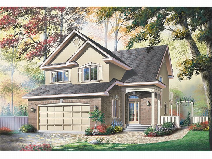 Narrow Lot Home Plan, 027H-0057