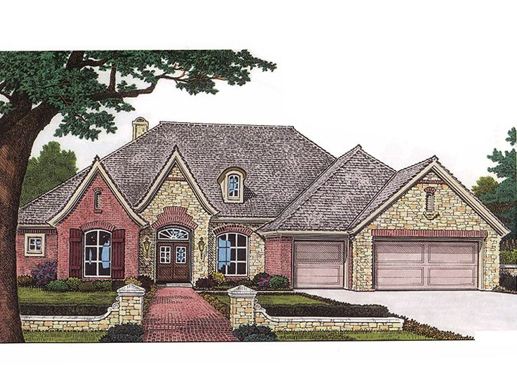 European House Plan, 002H-0002