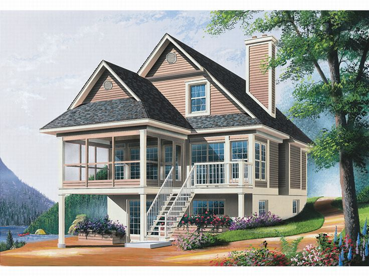 Plan 027h 0071 find unique house plans home plans and for Waterfront house plans