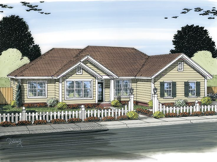 Ranch House Design, 059H-0149