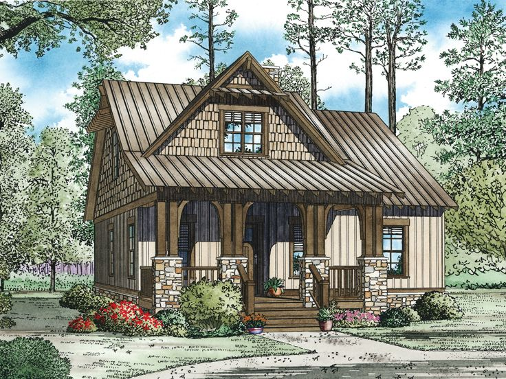 Craftsman House Plans   The House Plan ShopBungalow Home Plan  H