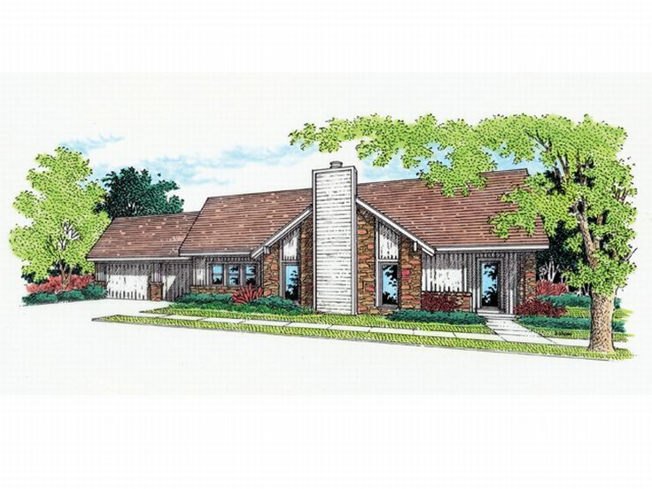Ranch Home Design, 021H-0016