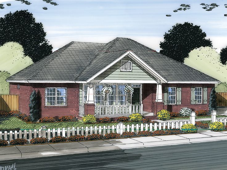 Starter house plans small starter house plan 059h 0145 for Small starter house plans