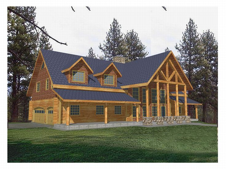 Log House Design, 012L-0021