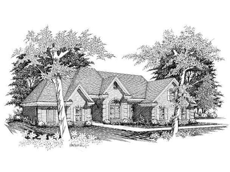 Traditional House Plan, 061H-0091