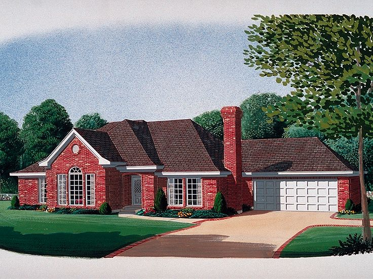 Ranch House Plan, 054H-0066
