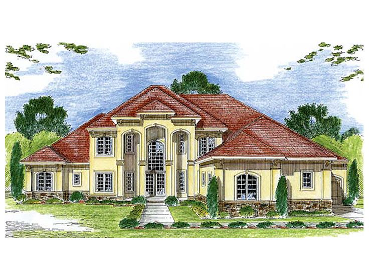 Luxury European Home, 050H-0064