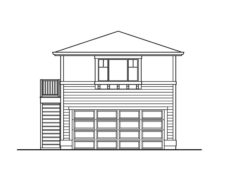Garage apartment plans 2 car garage with studio for How big is a two car garage square feet